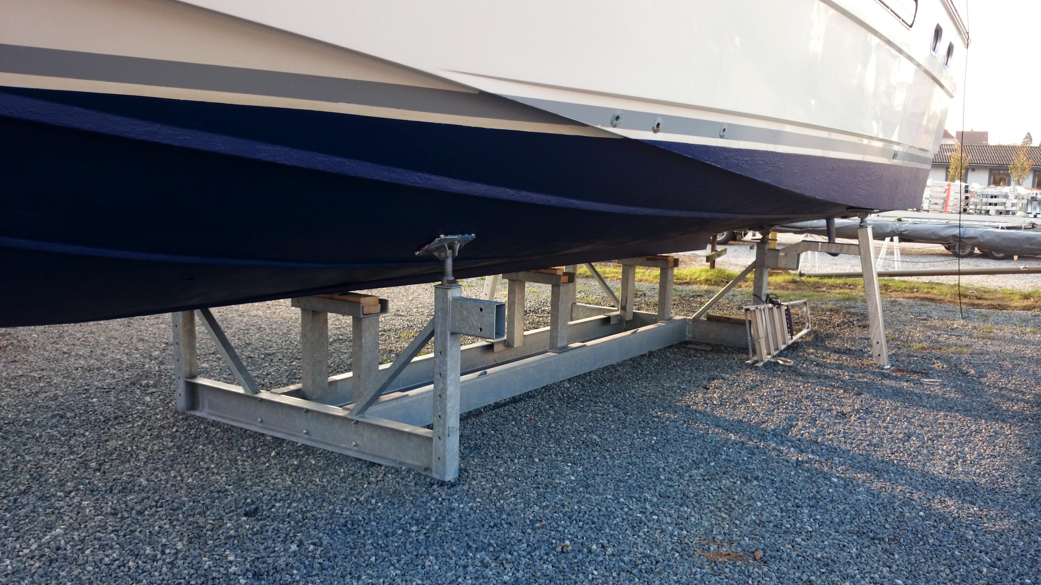 Type 12Ton mobile bådstativer, benhøjde 900mm, med ekstra ben