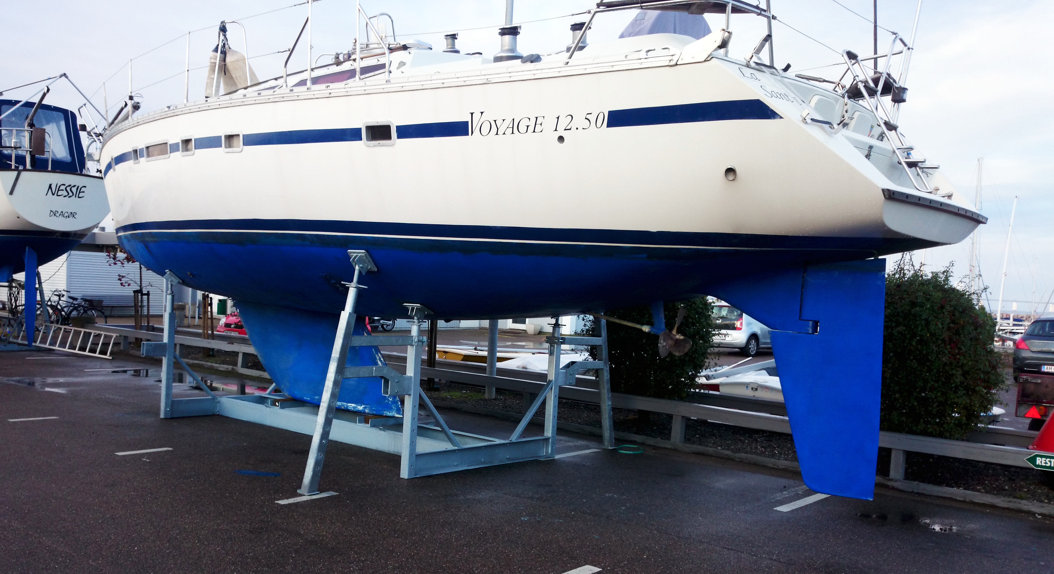 Type 12Ton mobile bådstativer med sejlbåd
